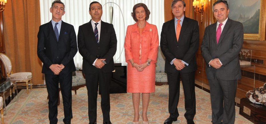 Doña Sofía Recibe A Una Delegación Del Consejo General
