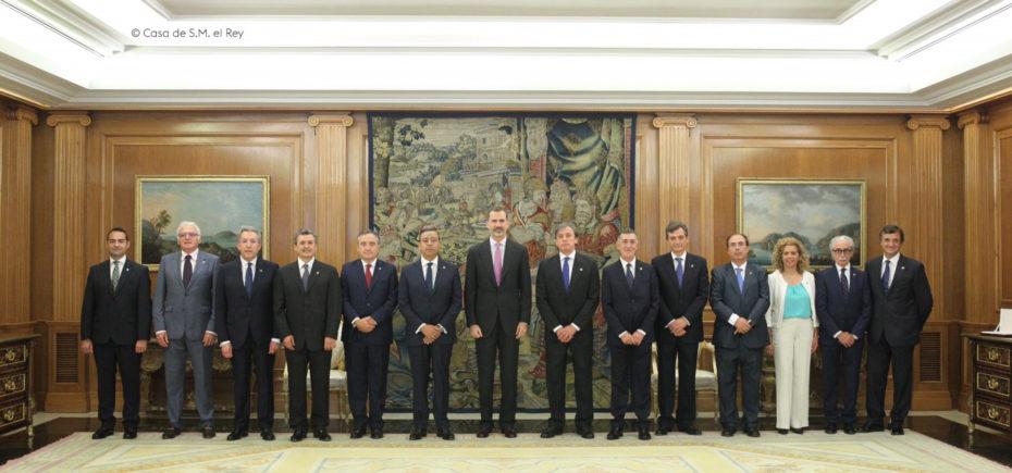 El Rey Recibe Al Comité Ejecutivo Del Consejo General