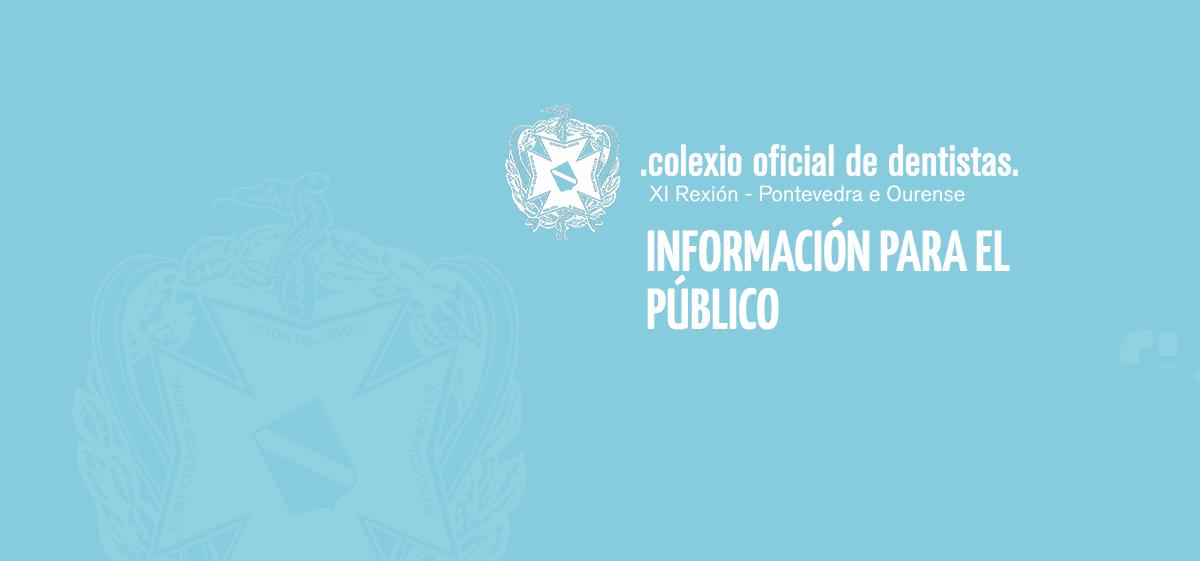 Comunicado Del Consello Galego De Odontólogos E Estomatólogos A La Población